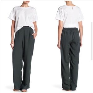 Eileen Fisher Tencel Pull On Pleated Pant Green M